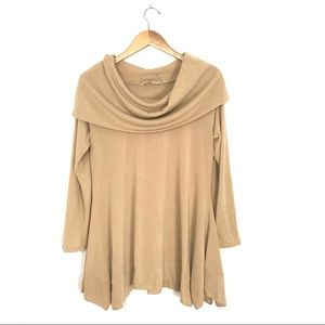 Soft Surroundings Bcall Tunic Sweater Oatmeal M A5